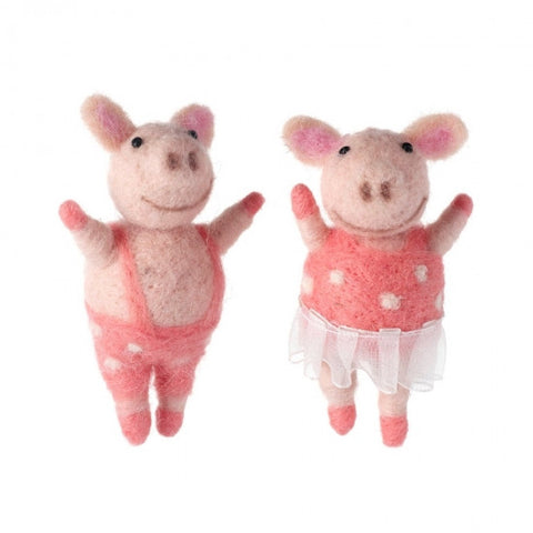 Woollen Mr & Mrs Piggy