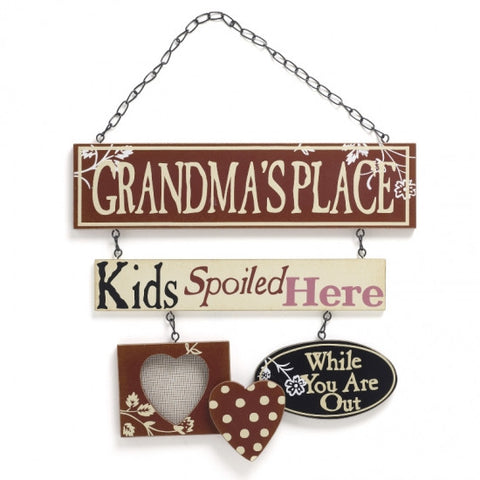 Metal Grandmas Place Sign