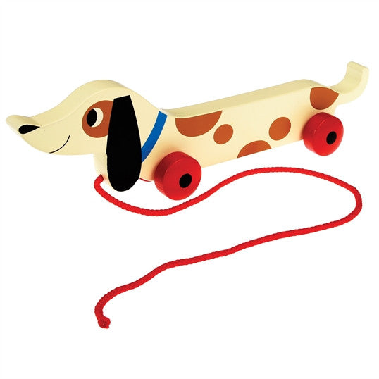 CHARLIE THE SAUSAGE DOG WOODEN PULL TOY - Feeling Quirky