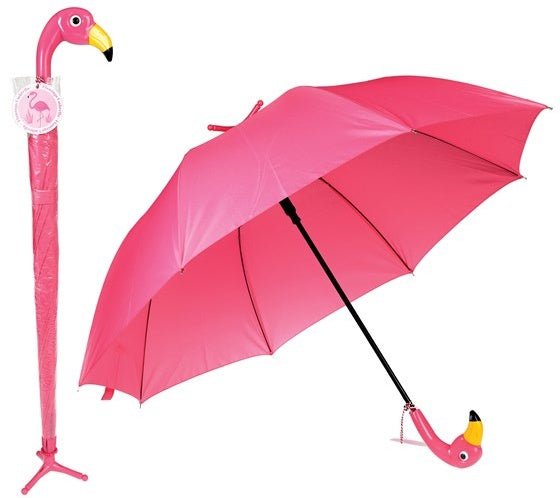 Flamingo Umbrella With Stand - Feeling Quirky