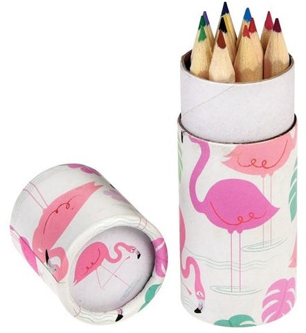 Flamingo Bay Colouring Pencils Set of 12 - Feeling Quirky