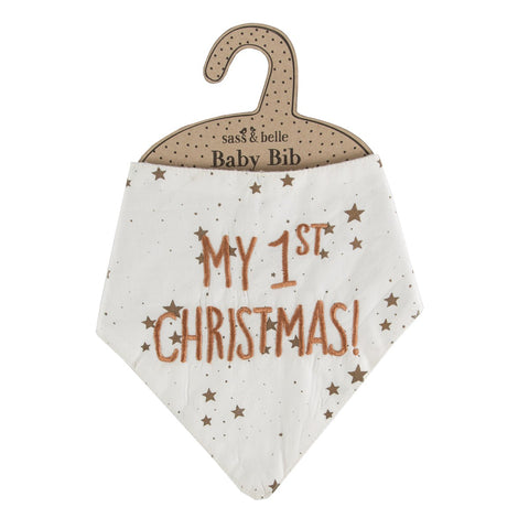My First Christmas Baby Bib - Feeling Quirky