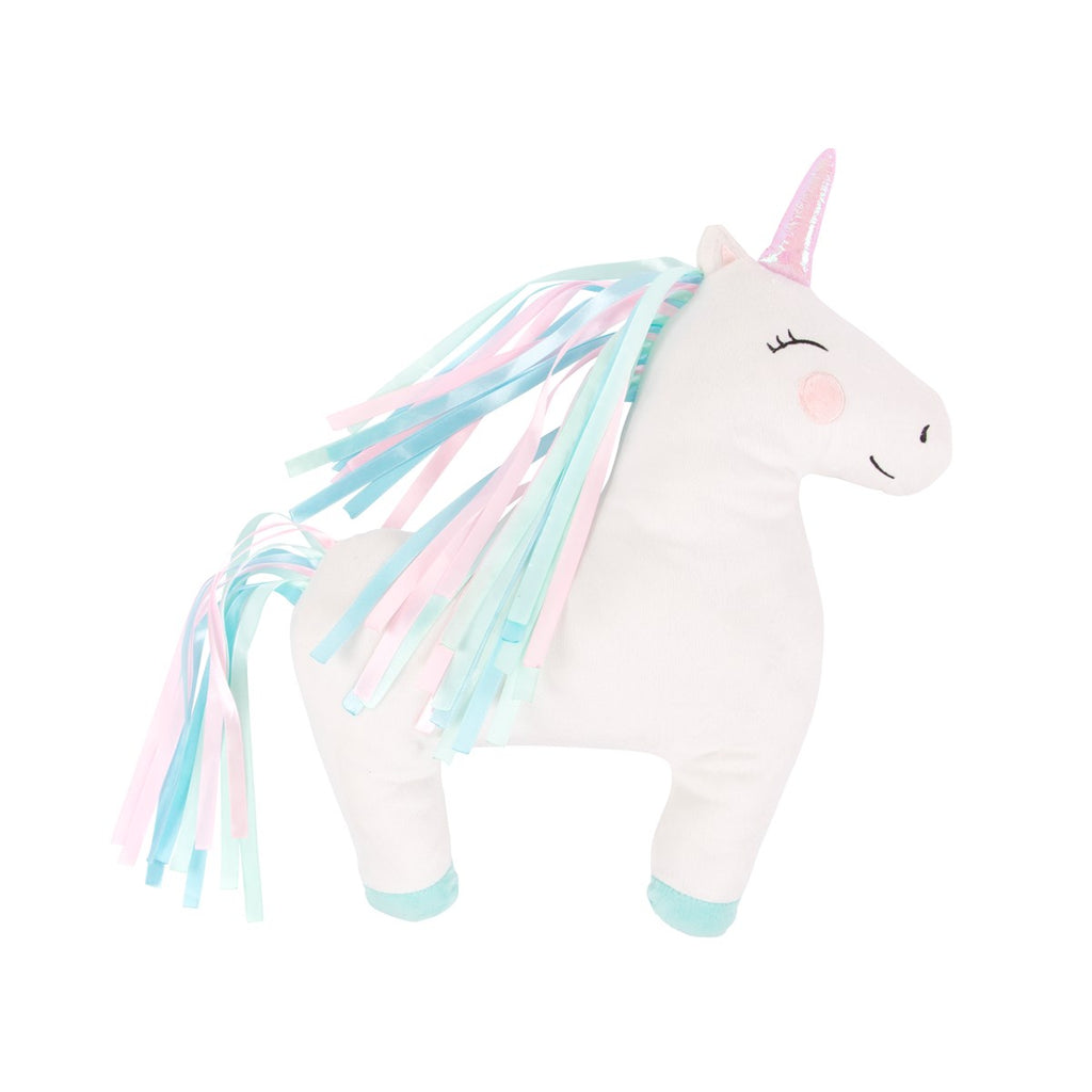 Cute Rainbow Unicorn Cushion With Rainbow Ribbon Mane - Feeling Quirky