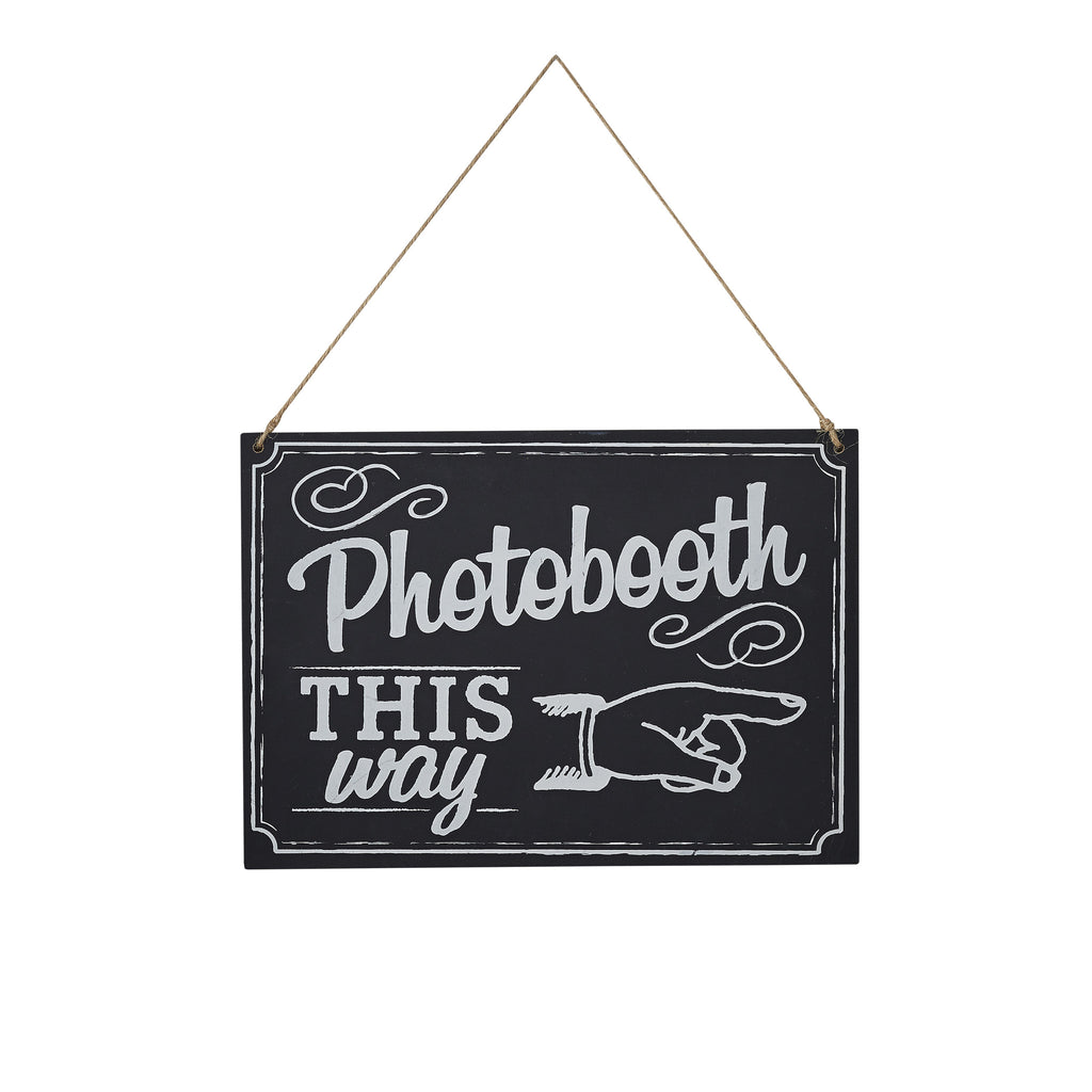 Chalkboard Wooden Sign - Photo Booth Sign - 'Vintage Affair' - Feeling Quirky