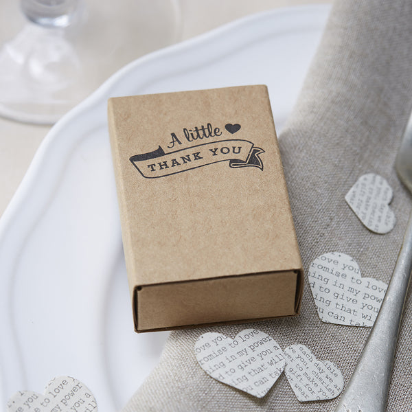 Vintage Themed Kraft Matchbox Favour Boxes - Feeling Quirky