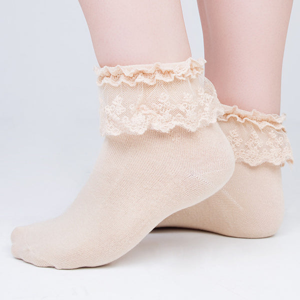 Lace Frill Ankle Socks - Feeling Quirky