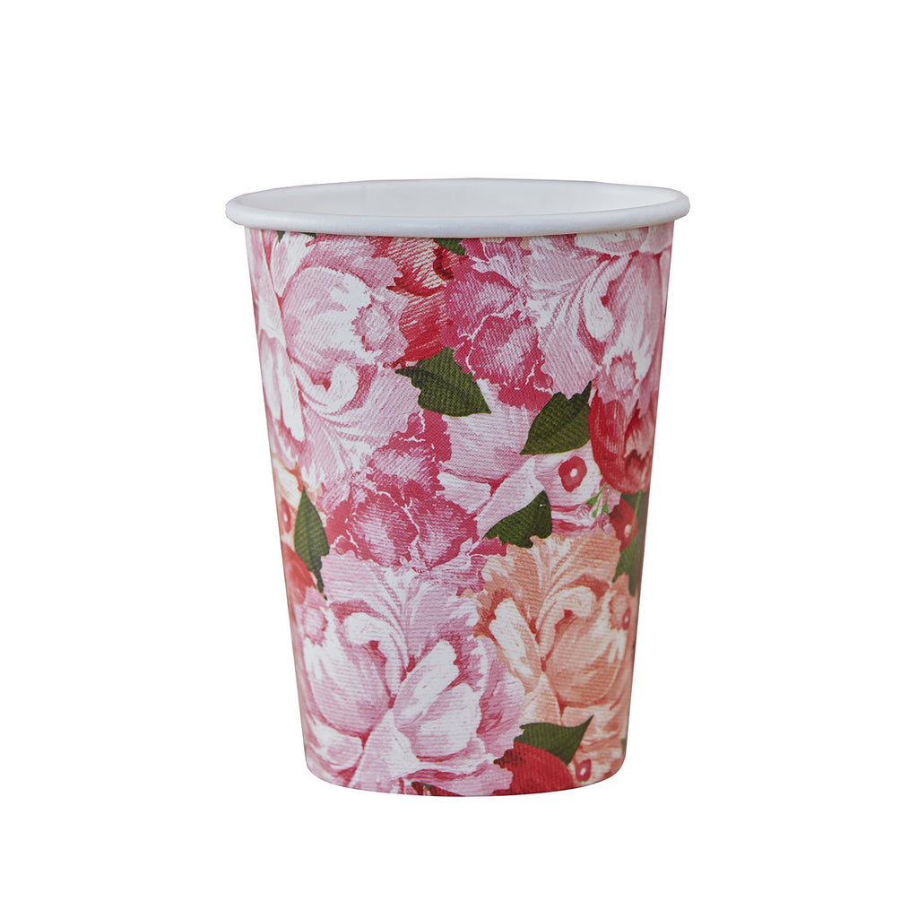 Boho Floral Party Paper Cups - Feeling Quirky