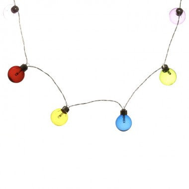 Multi Coloured Bauble Garland Fairy Lights - Feeling Quirky