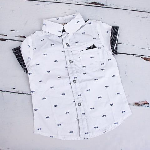 Bicycle Print Shirt - Feeling Quirky
