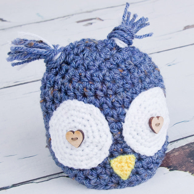 Hand Knitted Newborn Owl Hat - Feeling Quirky