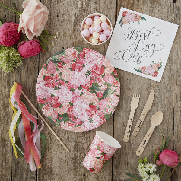 Boho Floral Party Paper Plates - Feeling Quirky
