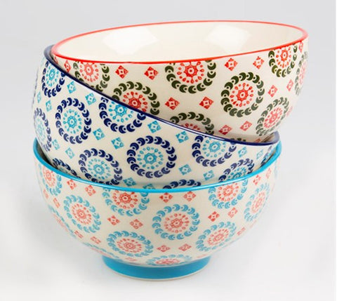 SET OF 3 BOHEMIAN BOWLS - Feeling Quirky