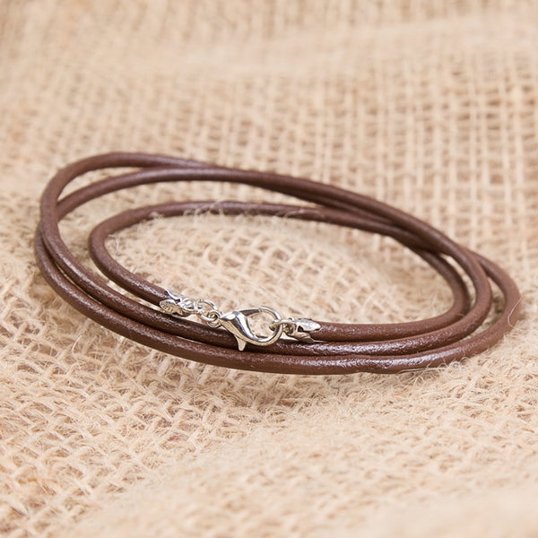 Men's Leather Wrap Bracelet With Sterling Silver Clasps - Feeling Quirky