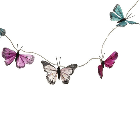 Multi Coloured Butterfly Garland Fairy Lights - Feeling Quirky