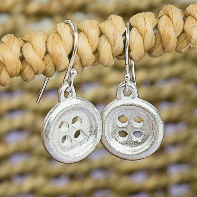 Sterling Silver Button Earrings - Feeling Quirky