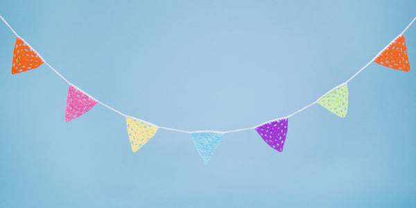 Colourful Handmade Crochet Bunting. - Feeling Quirky