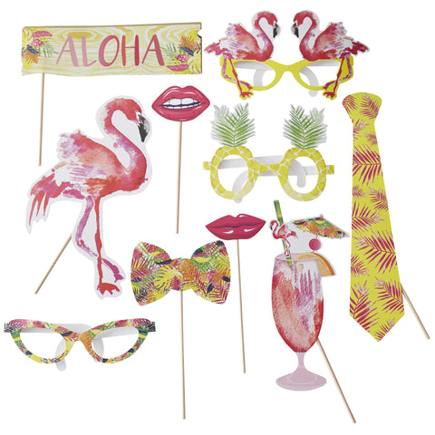 Summer Party Photo Booth Props - Flamingo Fun