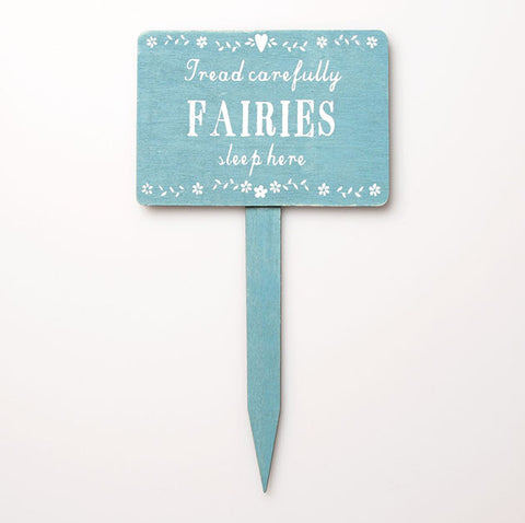 Fairies Sleep Here Wooden Garden Sign - Feeling Quirky