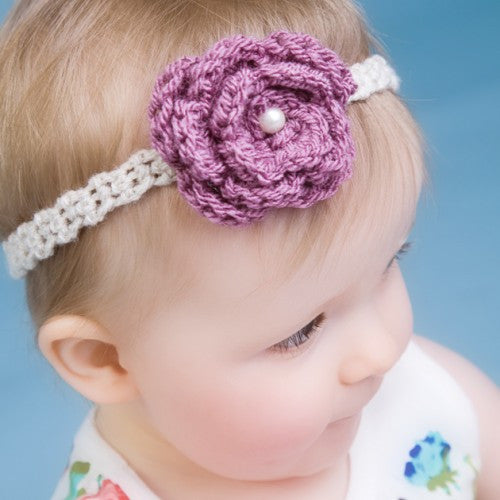 Aubergine Handmade Crochet Headband - Feeling Quirky