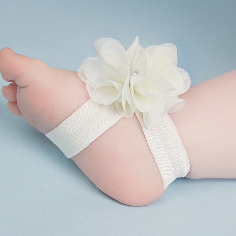 Baby Foot Flower Sandals & Matching Headband - More Colours - Feeling Quirky