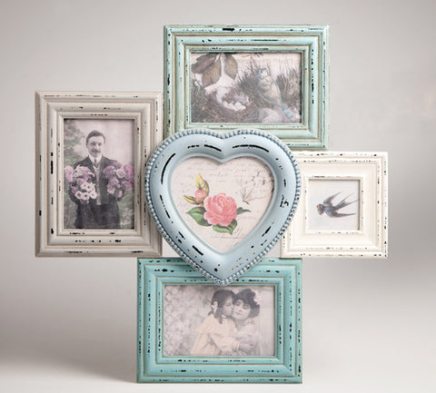 Delilah Heart Multi Photo Frame - Feeling Quirky