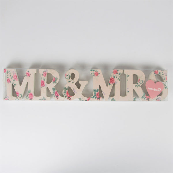 Mr & Mrs Floral Letters - Feeling Quirky