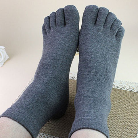 Unisex Grey Toe Socks