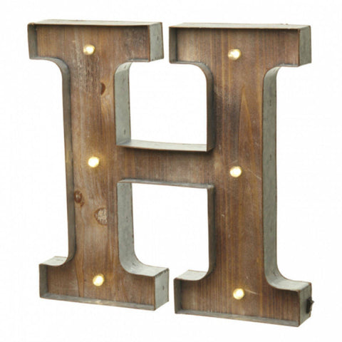 Large Light Up Letter 'H' Sign With LED - Feeling Quirky