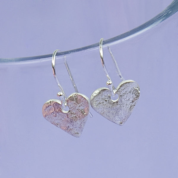 Sterling Silver Heart Earrings - Feeling Quirky