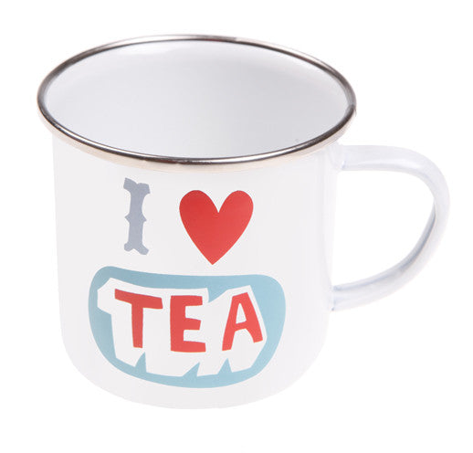 ENAMEL I LOVE TEA MUG - Feeling Quirky