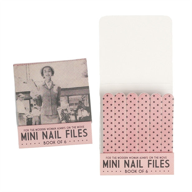 Book Of 6 Mini Modern Woman Nail Files - Feeling Quirky