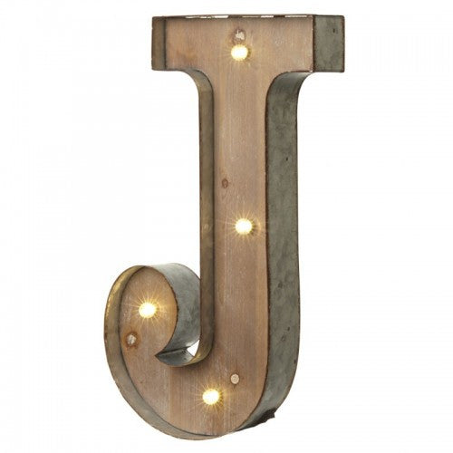 Large Light Up Letter 'J' With LED - Feeling Quirky