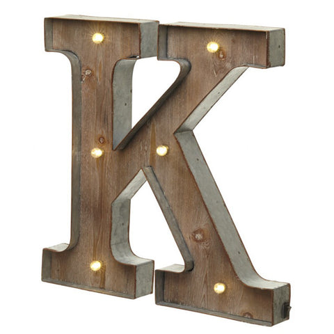 Large Light Up Letter 'K' Sign With LED - Feeling Quirky