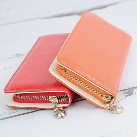 Beautiful Large Genuine Leather Purse - More Colours - Feeling Quirky