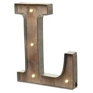 Large Light Up Letter 'L' Sign With LED - Feeling Quirky