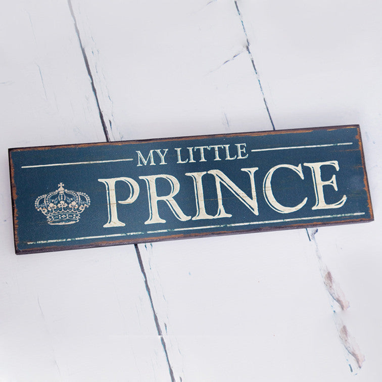 My Little Prince Antique Wooden Sign - Feeling Quirky