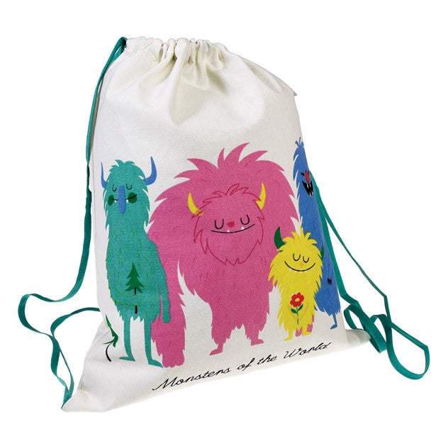 Monsters Of The World Drawstring Bag - Feeling Quirky
