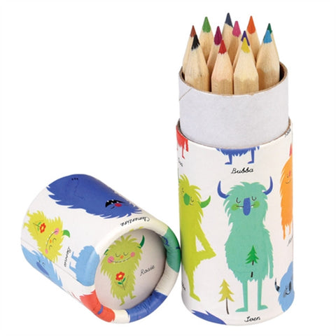 Monsters Of The World Colouring Pencils - Feeling Quirky