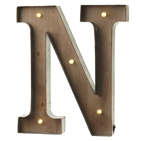 Large Light Up Letter 'N' Sign With LED