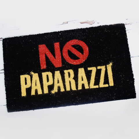 Coir Door Mat - No Paparazzi - Feeling Quirky