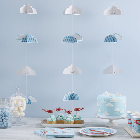 3D Cloud Backdrop Bunting - 'Flying High' - Feeling Quirky