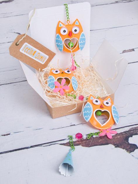 Bright Metal Owl Garland - Feeling Quirky