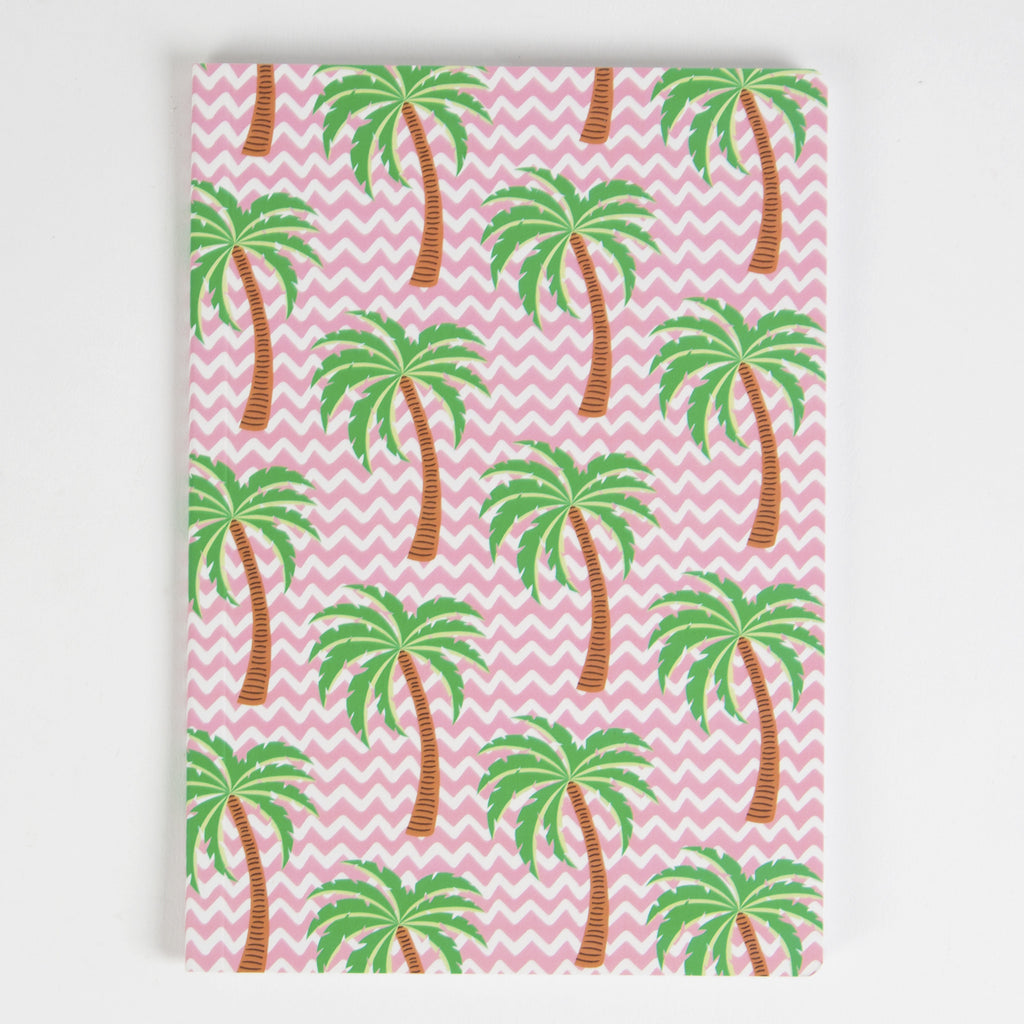 Tropical Summer Palm Tree A5 Notebook - Feeling Quirky