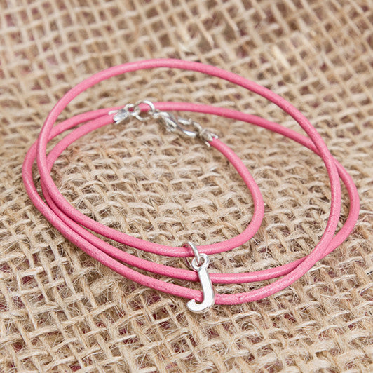 Pink Greek Leather Childrens Bracelet - Feeling Quirky