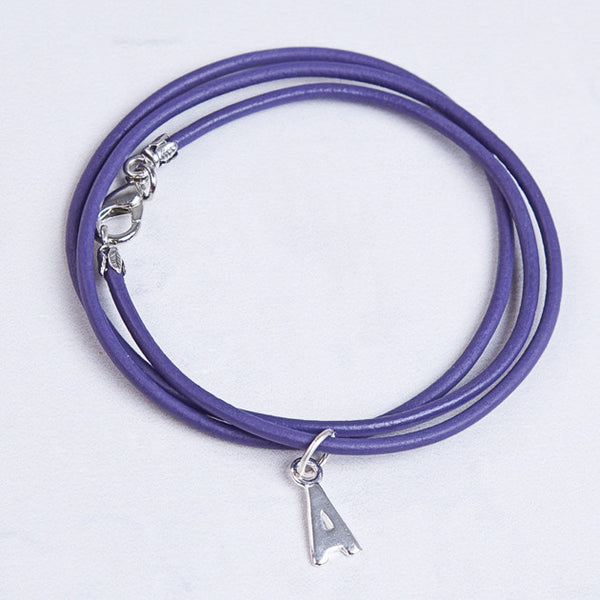 Purple Greek Leather Childrens Bacelet - Feeling Quirky