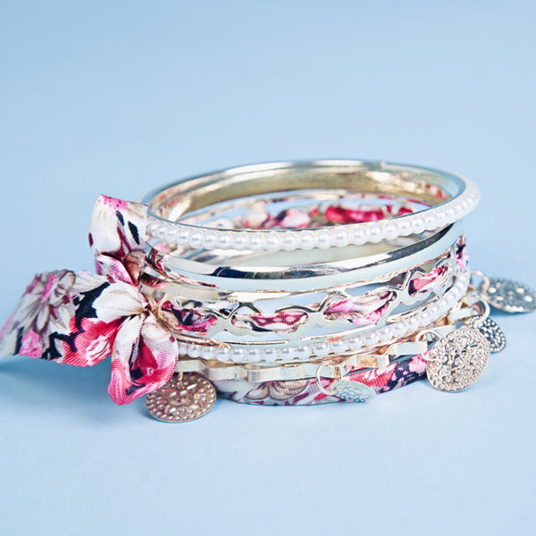 Ribbon Bangle Stack Bracelet - Feeling Quirky