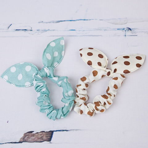 Pretty Polka Dot Scrunchies - Feeling Quirky