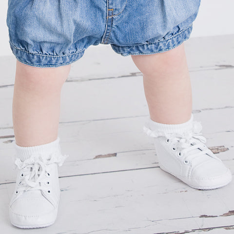Baby's White Canvas Pumps - Feeling Quirky
