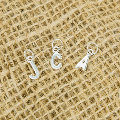 Sterling Silver Letter Charms - Feeling Quirky