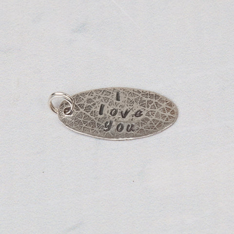 Sterling Silver Hand Crafted Message Token - Feeling Quirky